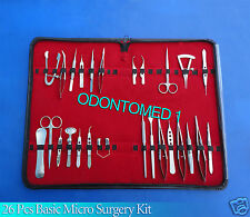 26 Pcs Basic  Eye Micro Surgery Surgical Instruments Set Kit