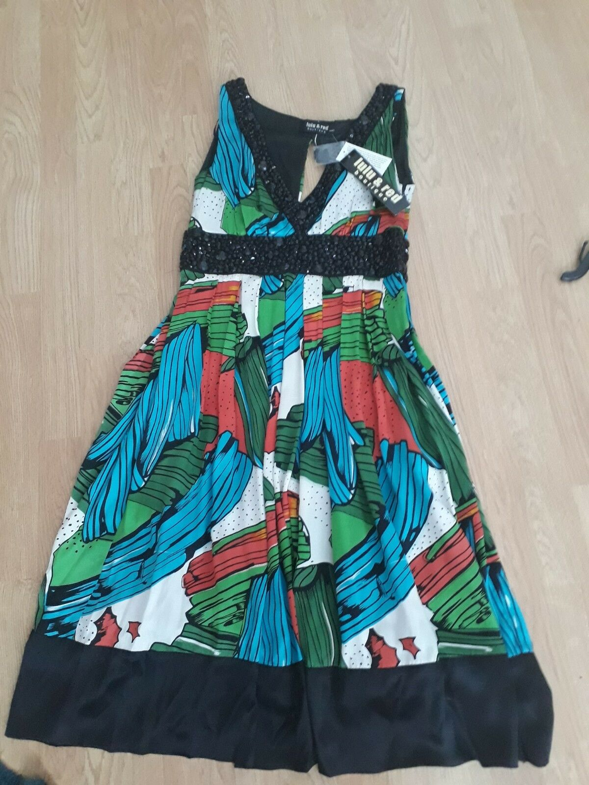 Lou lou and red boutique silk dress sz 10