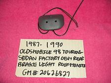 1987-1990 OLDSMOBILE 98 TOURING SEDAN FE3 REAR INTERIOR BRAKE LIGHT MONITOR  OEM