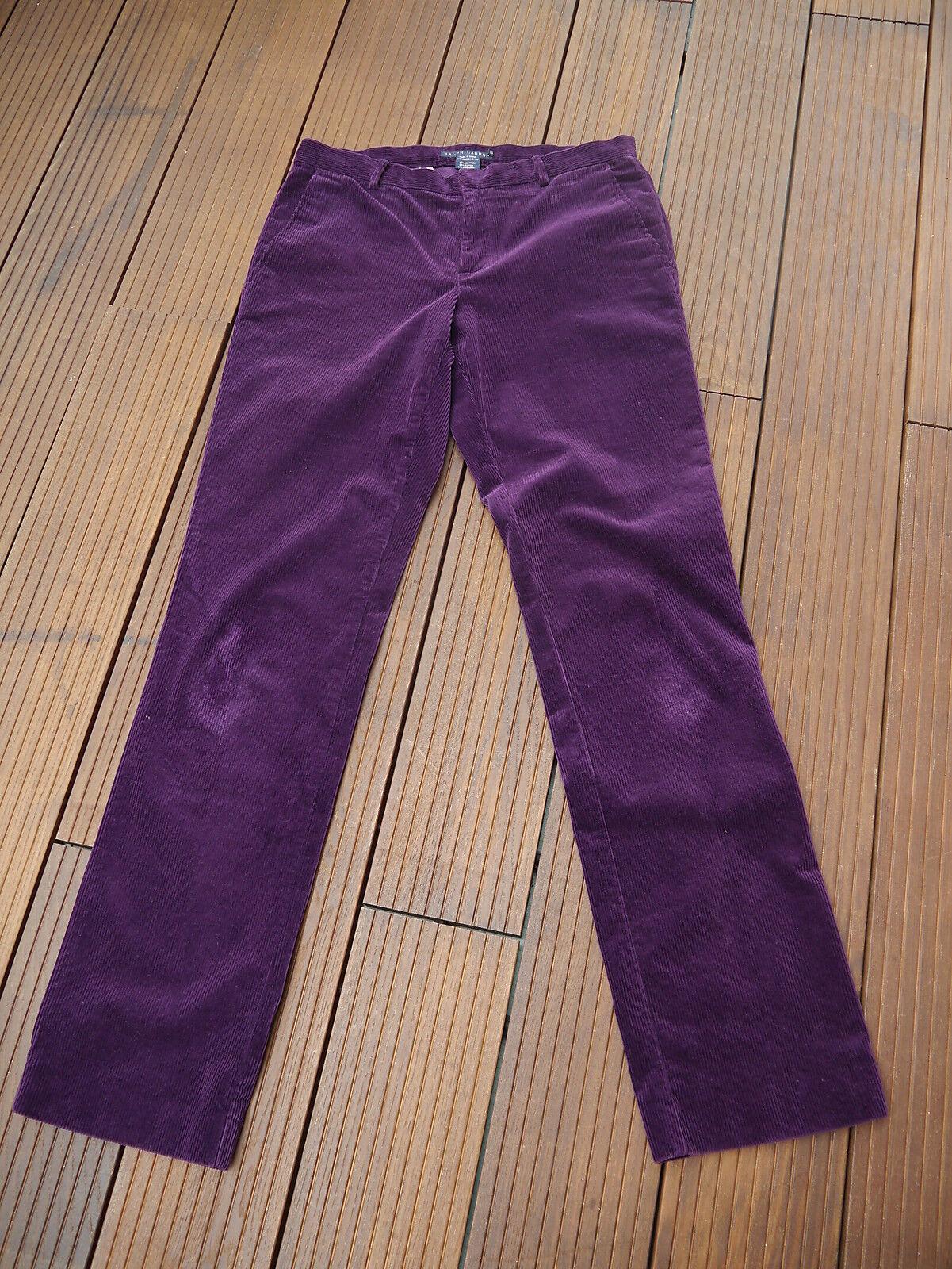 Ralph Ralph Ralph Lauren Damen Cord Jeans  Hose Stretch lila Gr.6  36 D   Sorgfältig ausgewählte Materialien    Produktqualität    Starke Hitze- und Hitzebeständigkeit    Perfekte Verarbeitung  4a3fe9