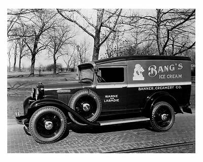 1933 International Bang's Ice Cream Panel Truck Photo u881-5CPIVI