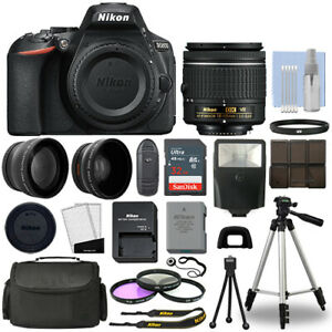 Nikon-D5600-Digital-SLR-Camera-Black-3-Lens-18-55mm-VR-Lens-32GB-Bundle