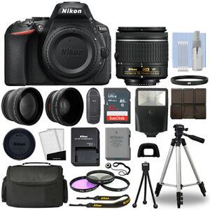 Nikon-D5600-Digital-SLR-Camera-Black-3-Lens-18-55mm-VR-Lens-32GB-Bundle