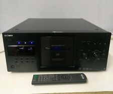 sony dvd player. sony dvp-cx777es 400 disc cd/dvd player black with remote new belts installed dvd