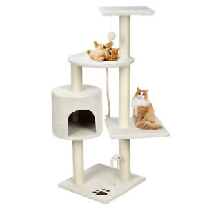 44-034-Scratching-Cat-Tree-Multi-Level-Activity-Center-Kitty-Condo-Furniture
