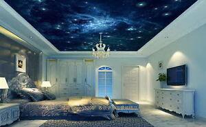 Details About 3d Galaxy Star Sky Wallpaper Ceiling Decals Wall Art Print