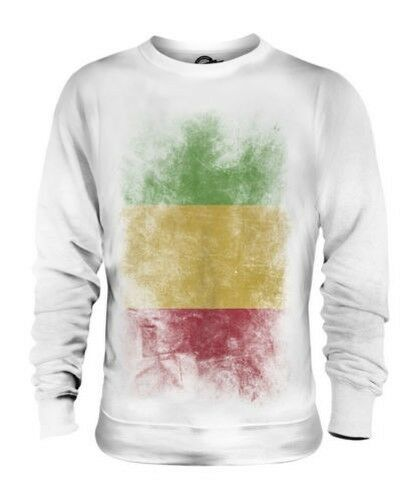 MALI FADED FLAG UNISEX SWEATER TOP MALIAN SHIRT FOOTBALL JERSEY GIFT