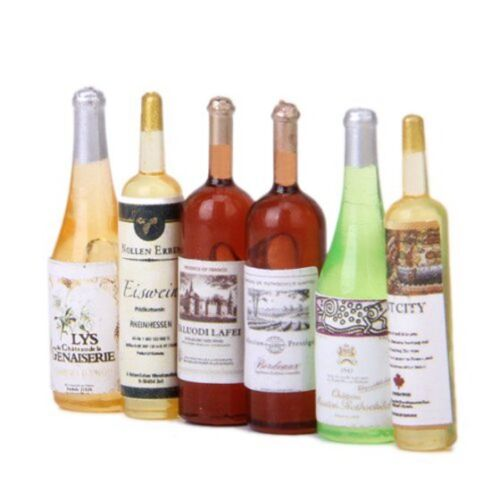 6Pcs set Doll house wine bottle 1//12 handmade accessories B3E4