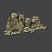 Mt Ruffmore Dog T-shirt Unisex S M L XL 2XL New NWT Cotton Charcoal Gray