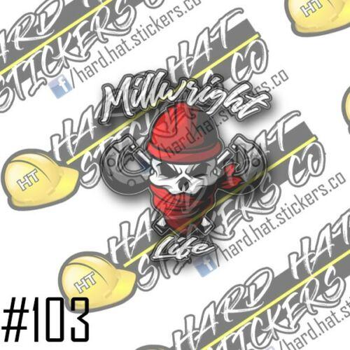 MILLWRIGHT HARD HAT STICKER 3PACK