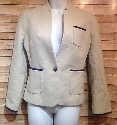 Banana Republic Beige Tweed Blazer Size 6