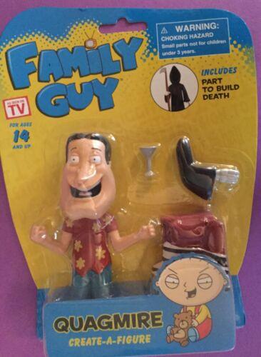 Family Guy Action Figure QUAGMIRE Build a Figure DEATH new on card TV SHOW