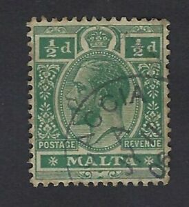 Rare-Malta-KGV-Stamp-cancelled-with-replica-of-Village-Postmark-CACCIA-GOZO