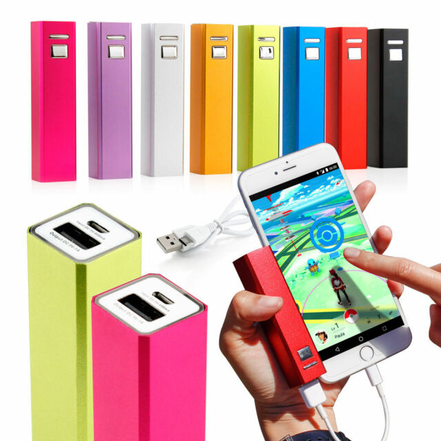 Ination Power Bank Universal Phone Charger 2600mah W Case Usb Cable Silver For Sale Online Ebay