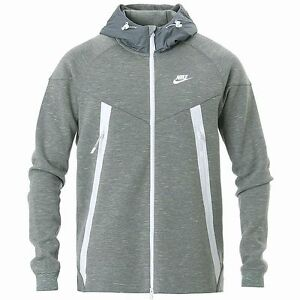 NIKE TECH FLEECE BONDED WINDRUNNER JACKET Grey-White training
