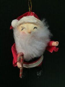 Vintage Paper Mache Santa Claus Christmas Ornament Figurine