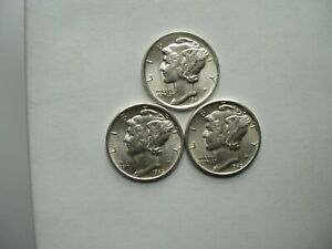 1945-S-Price-Is-For-One-Coin-Mercury-Dime-BU-Coin
