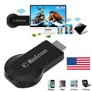 1080p MiraScreen WiFi HDMI TV Receiver Airplay For Samsung Galaxy