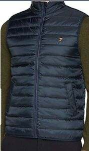 Bodywarmer Vintage Ridgewell Bnwt L Quilted £90 Gilet Farah Rrp Puffer Navy Blue P7SwqwRxg
