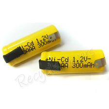 10pcs 2/3 AAA 3A 300mAh Ni-Cd 1.2V rechargeable battery with tab