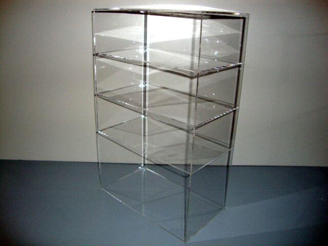 "Acrylic Lucite Countertop Display Case ShowCase Box Cabinet 12"" x 7"" x 19"""