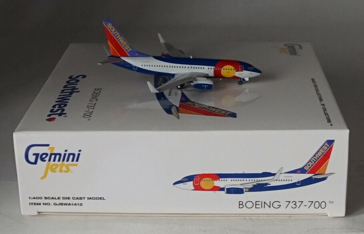Zwillinge Jets GJSWA1412 Boeing 737-7H4WL Southwest - Farbeado eine N230WN in 1