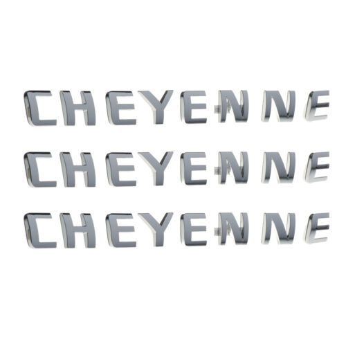 OEM NEW Door and Tailgate Cheyenne Emblem Set of 3 07-18 Silverado 15791217