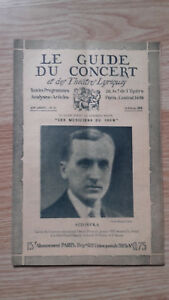 El Guía de La Concierto Y Las Teatro Letra - Sztompka - N º 21-1928