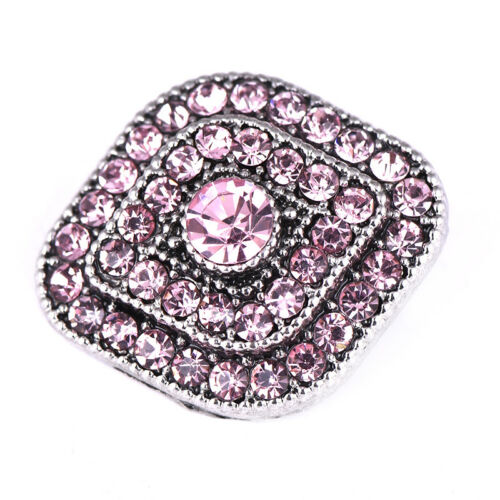 3DCrystal Chunk Charm Snap Button Fit For Noosa Necklace//Bracelet NSKZ179