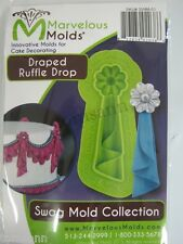 Marvelous Molds Swag Collection -Draped Ruffle Drop- fondant cake clay supplies