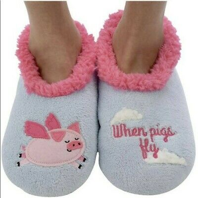 Simply Pairable Snoozies Elephant MEDIUM SHOE SIZE 7//8