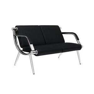 Details about PU Leather Office Reception Chair Executive Side Waiting Room  Visitor Guest Sofa
