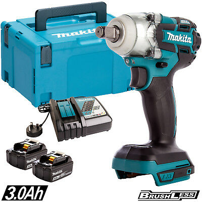 Makita DTW190Z 18V LXT Impact Wrench with 2 x 5.0Ah Batteries /& Charger in Case
