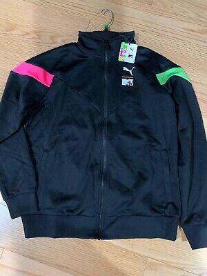 nitrógeno Ajustamiento Espere  PUMA x MTV Men's Track Top Size L BNWT 579672-01 Black Jacket | eBay