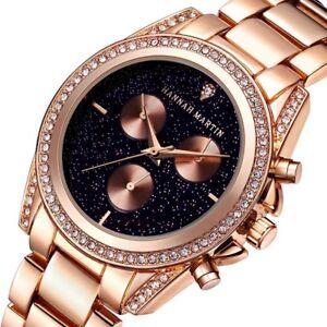 Women-Fashion-Watches-Quartz-Casual-Round-Rose-Gold-Stainless-Steel-Wristwatch