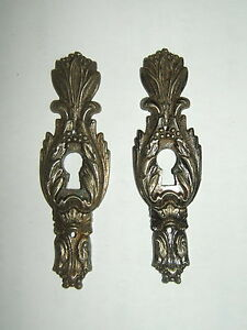 2 Intake Metal Chrome Carved For Drawer Of Chest of Drawers Art Deco