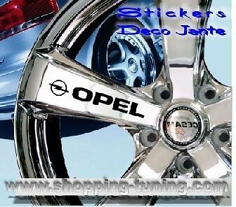 8 STICKER AUTOCOLLANT LOGO JANTE OPEL ASTRA CORSA AGILA