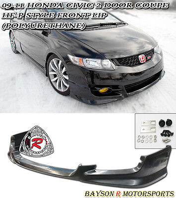 HF-P Style Front Lip (Urethane) Fits 09-11 Civic 2dr