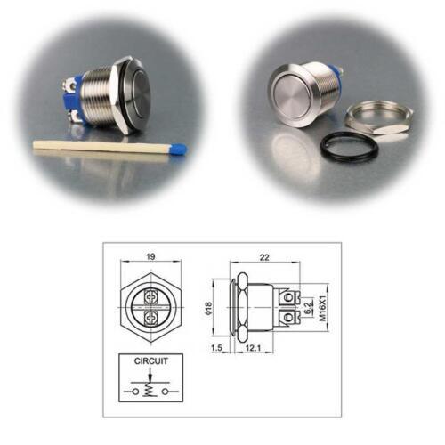sonda pulsadores ip67 botón Metal sonda N.A. acero inoxidable klingeltaster