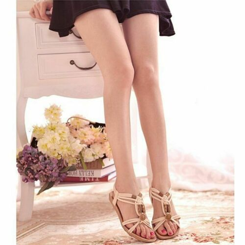 Women Sandals  Zapatos Mujer Black Gladiator Summer Beach Shoes Slip-on Fashion