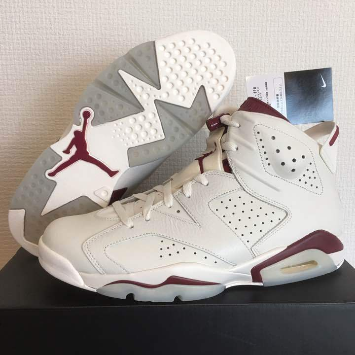 AIR JORDAN 6 RETRO MAROON 29cm genuine national from japan japan japan (2770 15a30c