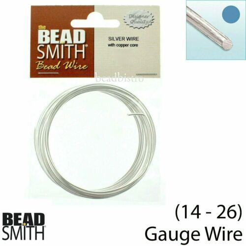 26 Gauges 16 22 24 18 20 BeadSmith Non Tarnish Silver German Wire 14