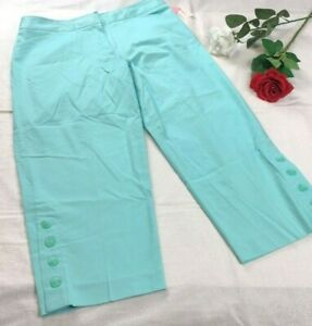 Details about Dress Barn Women\'s Plus Size 16W Turquoise Blue Capri Pants  Brand New with Tags