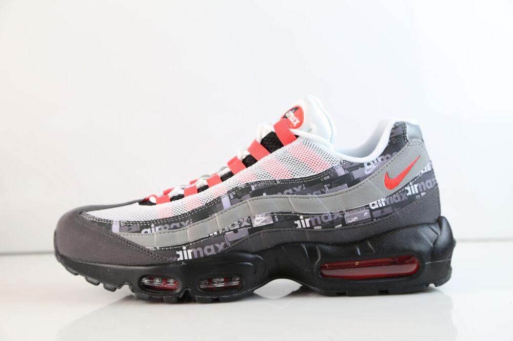 Nike Atmos Air Max 95 PRNT We Love Nike Noir Bright Crimson AQ0925-002 5-12 1 Chaussures de sport pour hommes et femmes