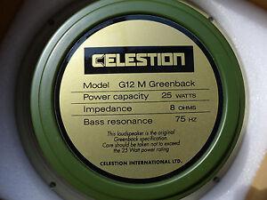 Celestion G12M Greenback 12 Guitar Speaker 8 ohm 25 Watts