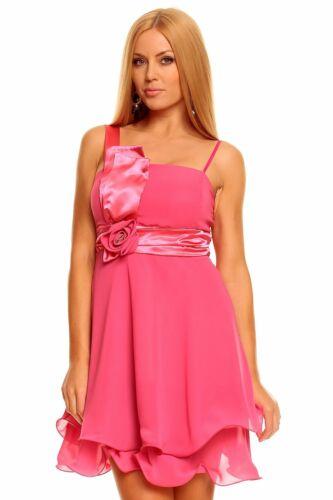 Minikleid Bandeau Kleid Chiffon Ballkleid Abendkleid Cocktailkleid Festkleid