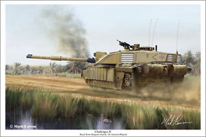 """Challenger II"" Mark Karvon Print - Royal Scots Dragoon Guard - 7th Armoured"