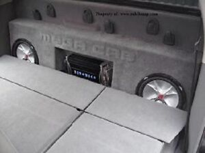 2006-2011 Dodge Ram Mega Cab Dual Sub Box With Amp Space