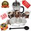 French-Press-34oz-Tea-Coffee-Maker-Stainless-Steel-2-Bonus-Mugs-6-Total-Filters thumbnail 1