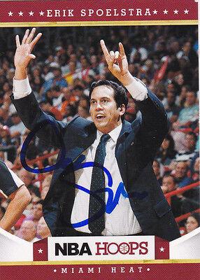 ERIK SPOELSTRA MIAMI HEAT SIGNED AUTOGRAPHED 2012-13 NBA HOOPS BASKETBALL CARD